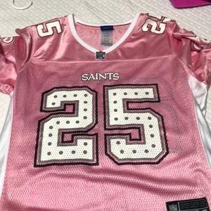 Saints pink jersey
